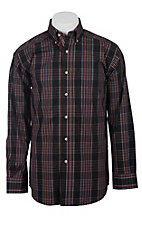 Ariat Men's L/S Moneno Black Western Plaid Shirt 10011475