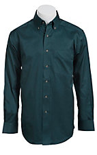 Ariat Mens L/S Solid Teal Shirt 10011477
