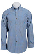Ariat Men's L/S Williams Blue Western Mini Check Shirt 10011552