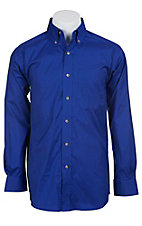 Ariat Mens L/S Solid International Blue Shirt 10012155