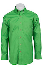 Ariat Mens L/S Solid Lime Green Shirt 10012156