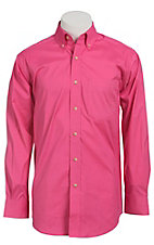 Ariat Mens L/S Solid Hot Pink Shirt 10012157