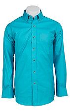 Ariat Mens L/S Solid Tidal Blue Shirt 10012158