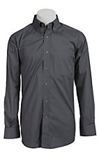 Ariat Mens L/S Solid Grey Shirt 10012159