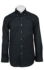 Ariat Mens L/S Solid Black Shirt 10012160
