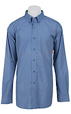 Ariat Men's L/S Mitch Blue Western Print Shirt 10012202