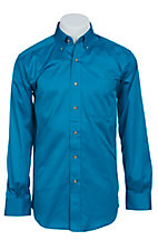 Ariat Mens L/S Solid Azure Shirt 10012329