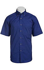 Ariat Mens S/S Solid International Blue Shirt 10012348