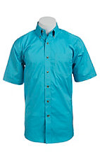 Ariat Mens S/S Solid Tidal Blue Shirt 10012351