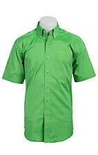Ariat Mens S/S Solid Lime Green Shirt 10012352