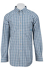 Ariat Men's S/S Ayers Multi Western Plaid Shirt 10012360