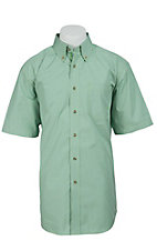 Ariat Men's S/S Klamath Green Western Plaid Shirt 10012387