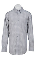 Ariat Men's L/S Kennedy Grey Western Print Shirt 10012396