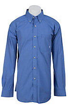 Ariat Men's L/S Chase Blue Western Check Shirt 10012426