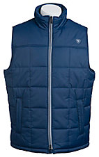 Ariat Men's Estate Blue Crius Polyfill Quilted Vest 10012644
