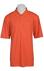 Ariat Mens Solid Dark Orange Tek Performance Polo