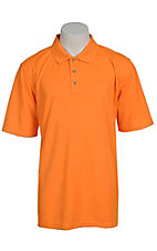Ariat Mens Solid Orange Tek Performance Polo