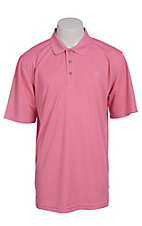 Ariat Mens Solid Pink Tek Performance Polo