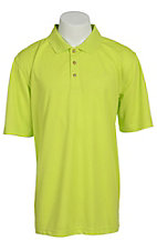 Ariat Men?s Solid Lime Green Tek Performance Polo