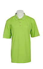 Ariat Mens Solid Green Tek Performance Polo