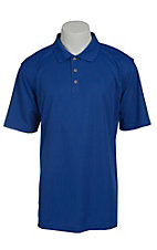 Ariat Mens Solid Cobalt Blue Tek Performance Polo