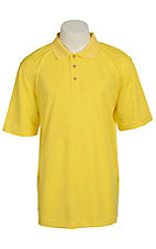 Ariat Mens Solid Lemon Tek Performance Polo