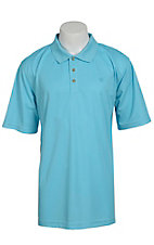 Ariat Mens Solid Blue Atoll Tek Performance Polo
