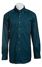 Ariat Mens L/S Solid Indochine Blue Shirt 10013437