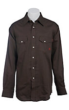 Ariat Work FR Men's Solid Chocolate Long Sleeve Flame Resistant Work Shirt 10013509