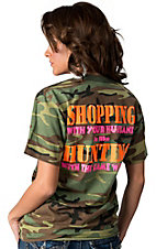 Backwoods Barbie® Ladies Camo Shopping with Your Husband Short Sleeve Tee
