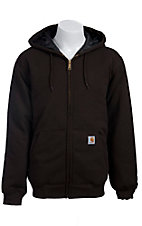 Carhartt Men's Dark Brown 3-Season Midweight Hooded Sweatshirt