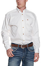 Ariat Mens L/S Solid White Shirt 109202