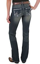 Booty Up™ by Wrangler® Women's Mae Above Hip Rise Stonewash Jean