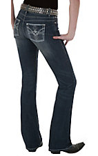 Booty Up™ by Wrangler® Women's Peace on Earth Low Rise Dark Stonewash Jean