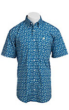 Cinch S/S Mens Fine Weave Shirt 1111069