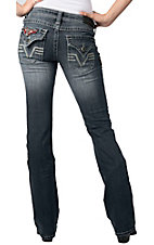 Affliction® Ladies Jade Patch Flap Pocket Rosaline Boot Cut Jean