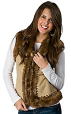 Montanaco® Women's Palomino w/ Faux Fur Trim Saddle Stitch Vest