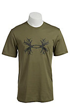 Under Armour® Men's Moss Green UA Ghost Antler Logo T-Shirt