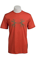 Under Armour® Men's Phoenix Orange UA Ghost Antler Logo T-Shirt