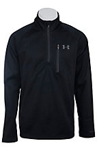 Under Armour� Cold Gear? Men's Black Solid Quarter Zip Pullover