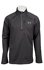 Under Armour Cold Gear Men's Grey Solid Quarter Zip Hunting Pullover
