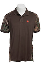 Under Armour® Men's Brown Camouflage Short Sleeve Polo