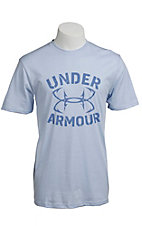 Under Armour® Men's Cirrus Blue UA Hook Wordmark T-Shirt