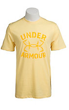 Under Armour® Men's Pale Yellow UA Hook Wordmark T-Shirt