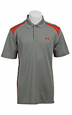 Under Armour® Men's Grey & Orange UA Performance Colorblock Polo
