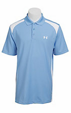 Under Armour® Men's Carolina Blue & White UA Performance Colorblock Polo