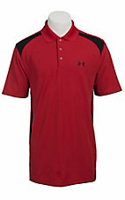 Under Armour® Men's Red & Black UA Performance Colorblock Polo