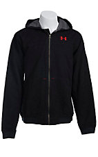 Under Armour Men?s Black UA Burley Hooded Jacket 1238347001