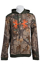Under Armour Mens Realtree Camo Charged Cotton Storm Antler Logo Hoodie 1241576946