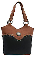 Wrangler� River Black & Sienna Brown Conceal & Carry Tote